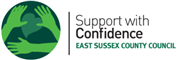 Accreditation: Support with Confidence logo for Sussex Support Service