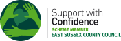 Accreditation: Support with Confidence logo for Swimming Lessons for adults @ Wave Leisure