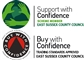 Accreditation: Support with Confidence and Buy with Confidence logos for DC Property Maintenance