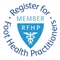 Accreditation: Register for Foot Health Practitioners logo for Gentle Sole Foot Therapy