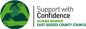 Accreditation: Support with Confidence logo for Julie Lofthouse